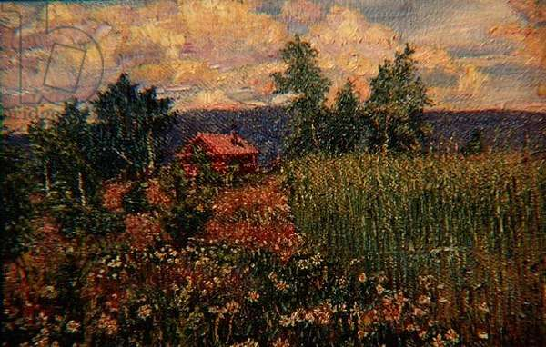 Landscape with a Pink House, c.1910 (oil on canvas)