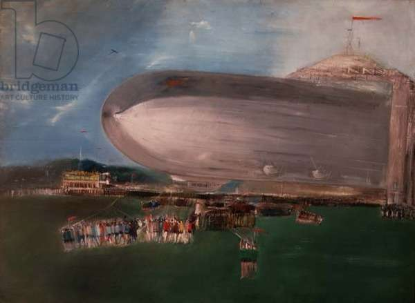 The Dirigible, 1931 (oil on canvas)