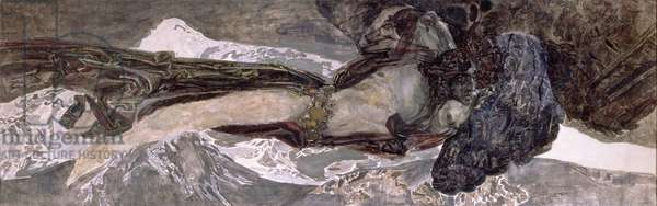 The Flying Demon, 1899 (oil on canvas)