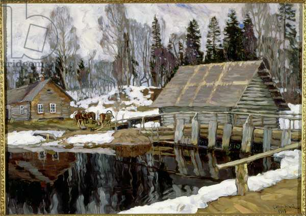 The Dam, 1909 (oil on canvas)