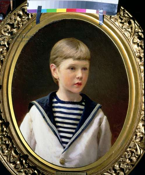 Portrait of a Boy, possibly Prince Anatoly Levin (oil on canvas)