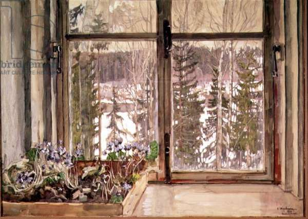 The First Heralds of Spring, 1910 (oil, tempera, gouache & w/c on cardboard)