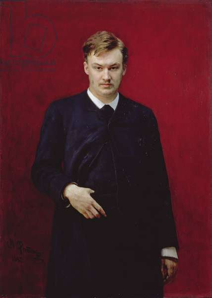 Portrait of the composer Alexander Konstantinovich Glazunov (1865-1936) 1887 (oil on canvas)