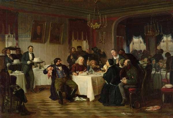 The Restaurant (oil on canvas)