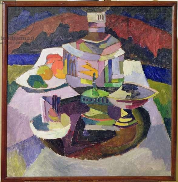 Still Life with Samovar, 1913 (oil on canvas)