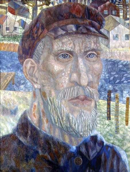 The Kolkhoznik (Member of a Collective Farm) 1931 (oil on canvas)