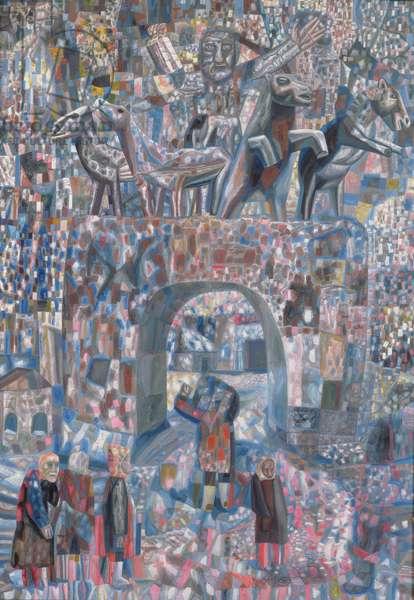 The Narva Gates, 1929 (oil on paper)