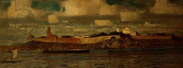 View of the Citadel at Novgorod and the River Volkhov (oil on canvas)