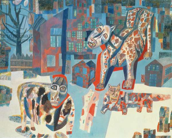 The Beasts, 1925-6 (oil on paper)