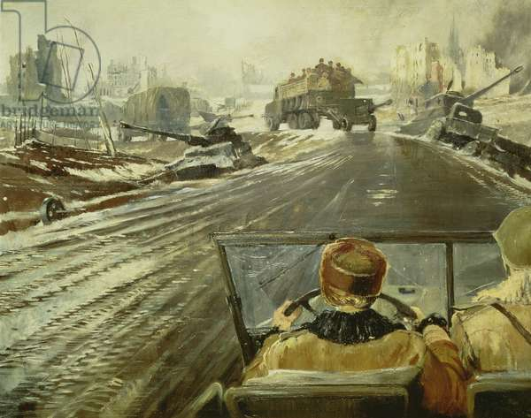The Front Line Road, 1944 (oil on canvas)