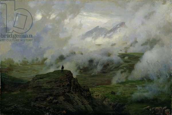 Mount El'brus, Russia, 1894 (oil on canvas)
