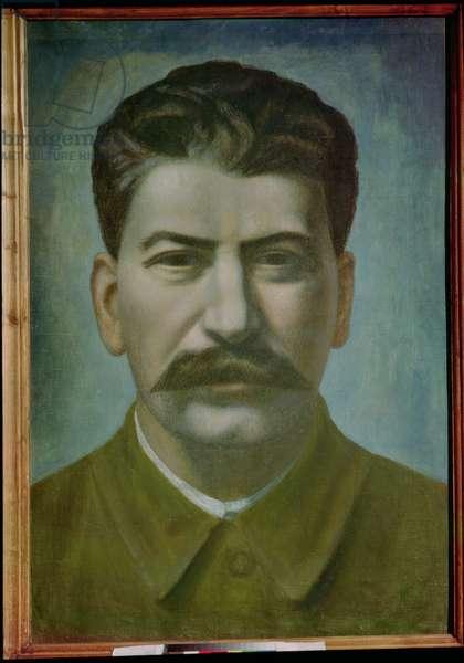 Portrait of Joseph Stalin (Iosif Vissarionovich Dzhugashvili) (1879-1953) 1936 (oil on canvas)