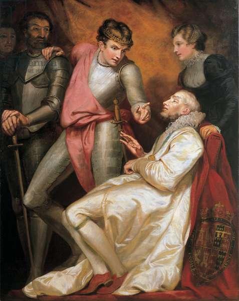 The death of John Gaunt, 1793 (oil on canvas)