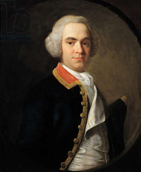 Portrait of Naval Officer, 1747 (oil on canvas)