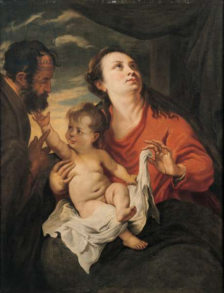Holy Family, 1627 (oil on canvas)