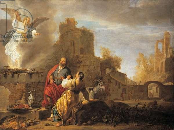 The Sacrificeof Monoah, 1650 (oil on canvas)