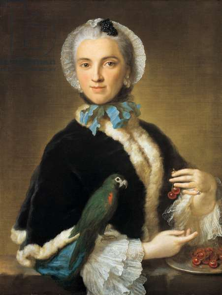 Portrait of a woman, 1750 (oil on canvas)