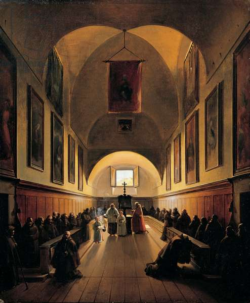 Interior of the Capuchin Monastery, 1815 (oil on canvas)