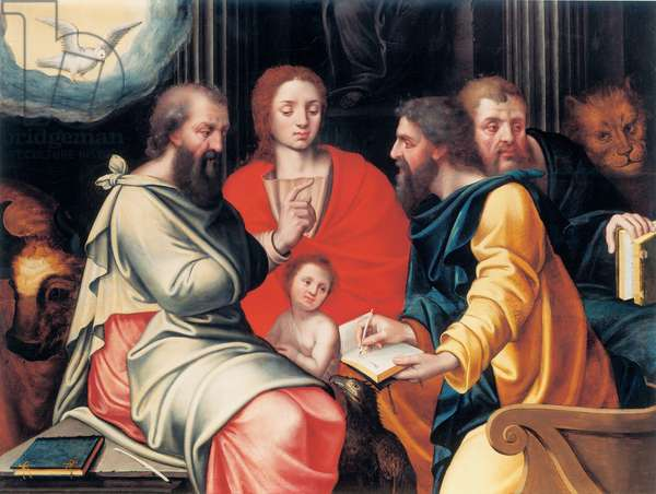 The four Evangelists (oil on panel)