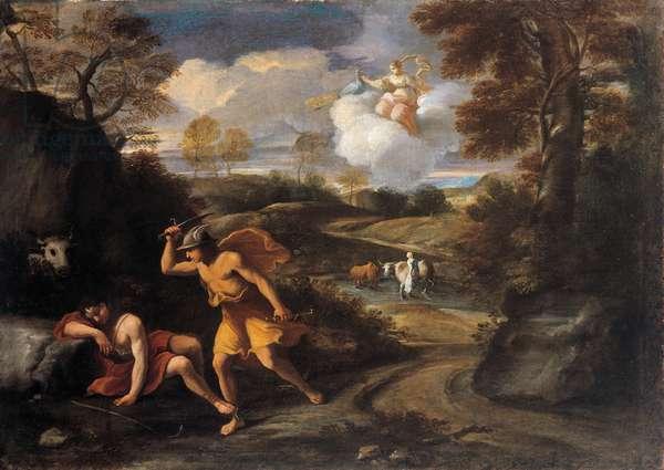 Mercury with the sleeping Argus & Io, 1650 (oil on canvas)