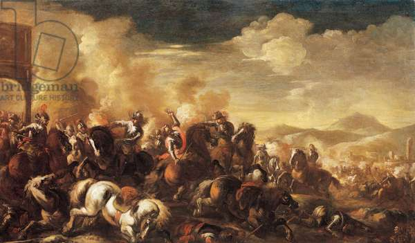 Battle piece, 1700 (oil on canvas)