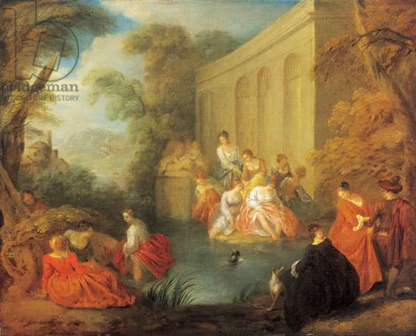 Fête champêtre, 1731 (oil on canvas)