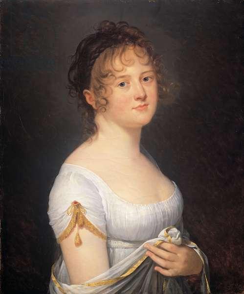 Portrait of Jeanne Cécile de Maillé, marquise de Lubersac (died 1820), 1809 (oil on canvas)