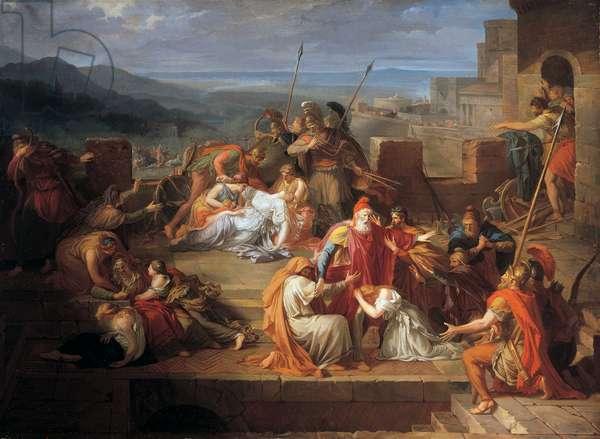 Consternation de Priam et de sa famille après le combat d'Achille et d'Hector, 1792 (oil on canvas)