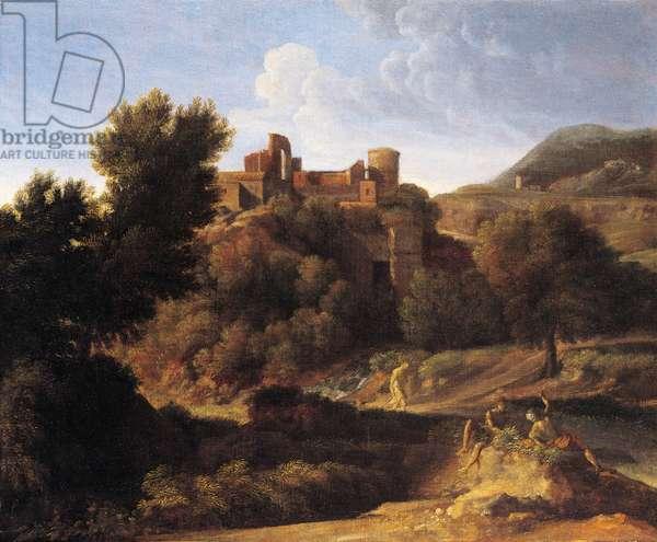 Italianate landscape, 1660-69 (oil on canvas)
