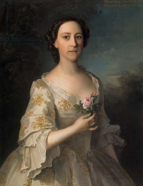 Portrait of Martha Lowther, 1753 (oil on canvas)