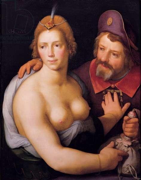 Mercenary love, 1614 (oil on canvas)