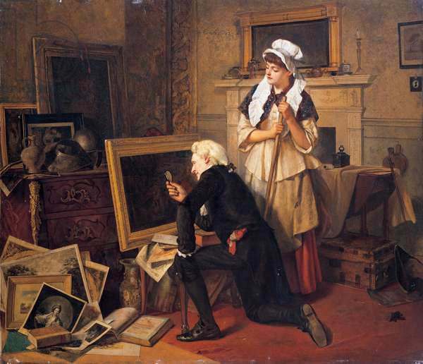The collector, 1864 (oil on canvas)