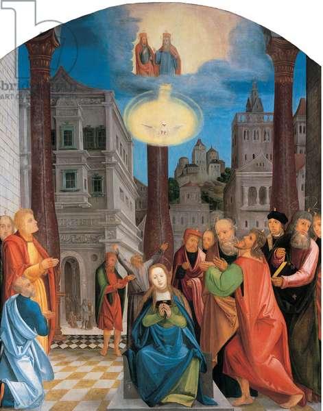 Pentecost (oil on panel)