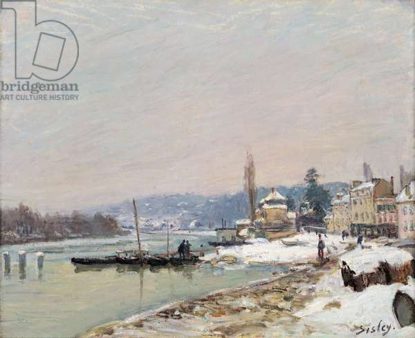 Port-Marly sous la neige, 1875 (oil on canvas)