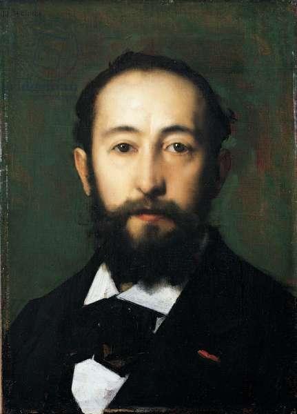 Portrait of Jules Claretie (1840 - 1913) (oil on canvas)