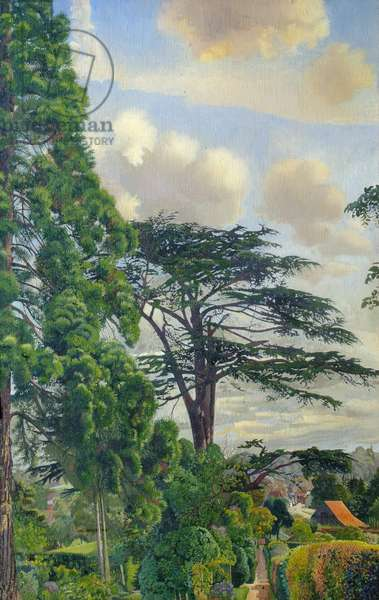 Cookham from Englefield, 1948 (oil on canvas)