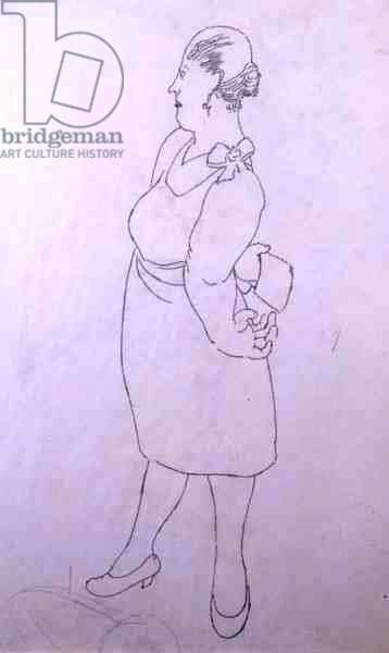 Hotel Keeper's Wife, 1953 (pencil on paper)
