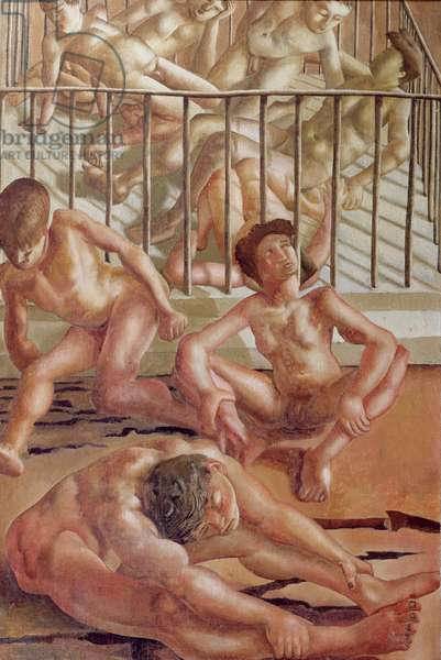 Sunbathers at Odney, 1935 (oil on canvas)