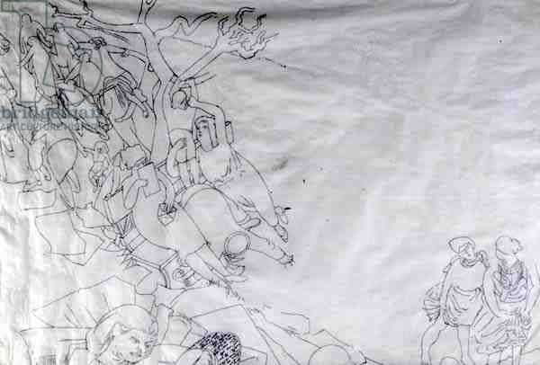 Apotheosis of Hilda (pencil on paper)