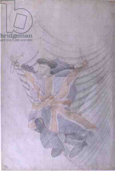 Sailor, 1953 (pencil and chalk on paper)