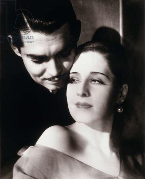 Clark Gable and Norma Shearer (b/w photo)