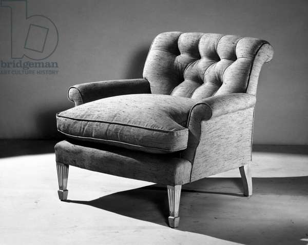 Empty armchair in a room
