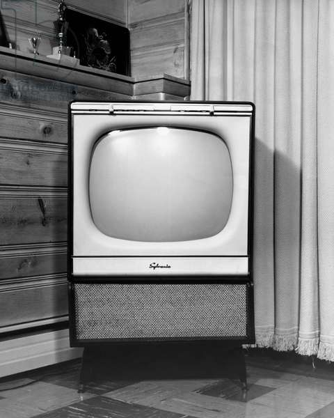 Close-up of a television in a room