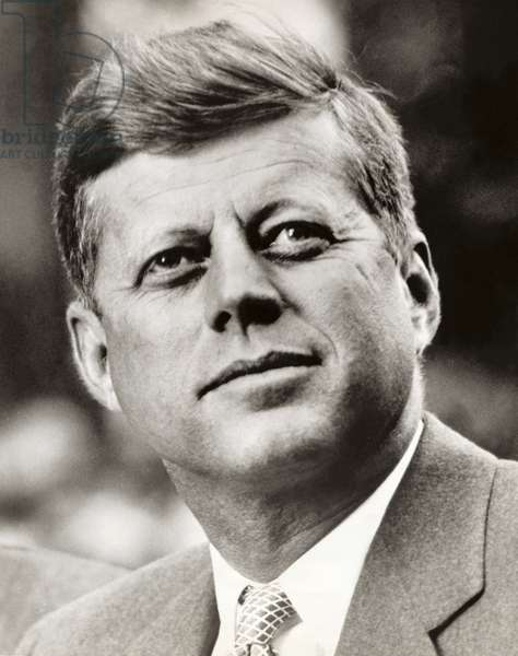 John F. Kennedy (1917-63) 35th President of the United States of America (b/w photo)