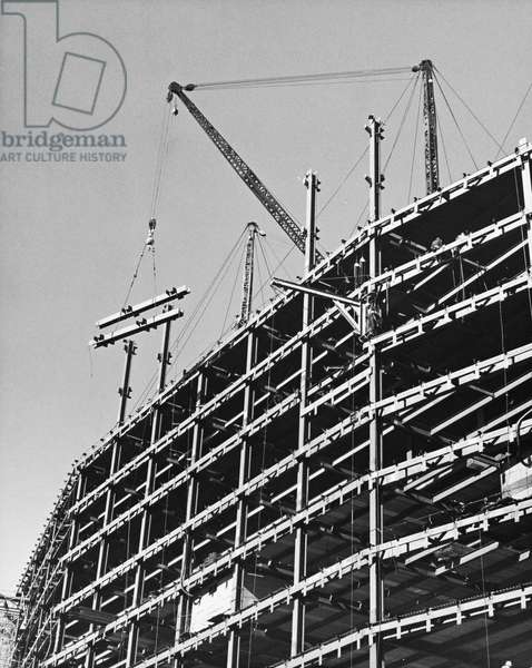 Construction of the Pan Am Building, New York City, New York State, USA