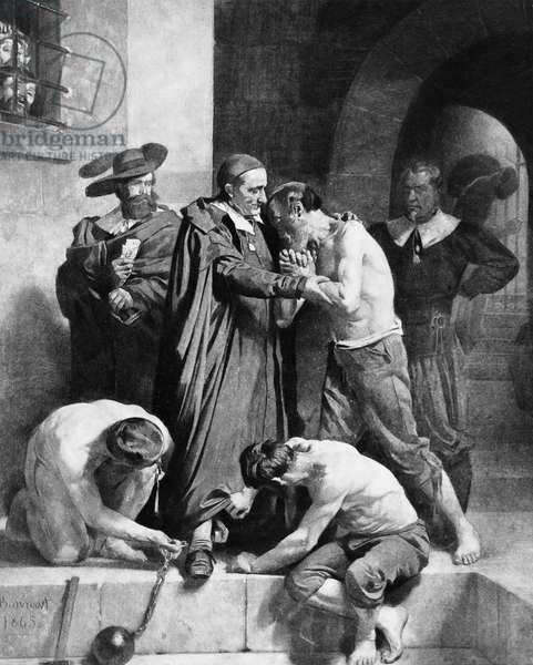 Portrait of St. Vincent de Paul Accepting the Chains of a Galley Slave, 1865 (oil on canvas)