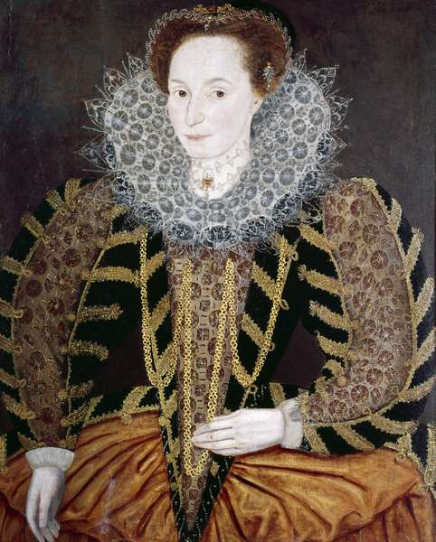 Lucy Harington, Countess of Bedford (oil on panel)
