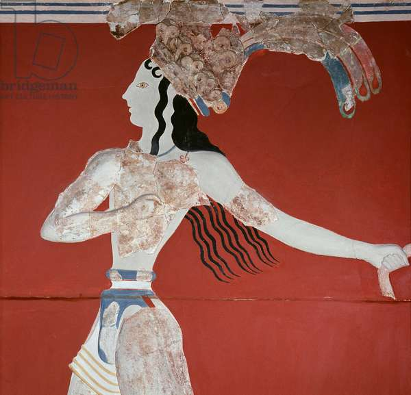 Priest/King from Knossos Greek Art Fresco Heraklion Musuem, Crete