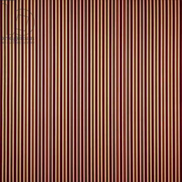 Abstract-Vert. Stripes by Bridget Riley, born 1931