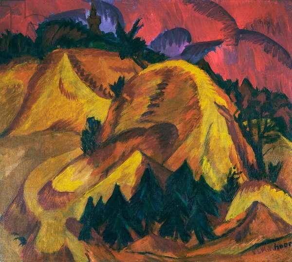 Sand Hills of Engadin, 1917-18 (oil on canvas)